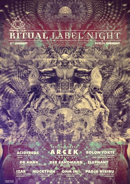 Popol Vuh Records Ritual Label Night 8 Jan 2016 8 Jan '16, 22:00