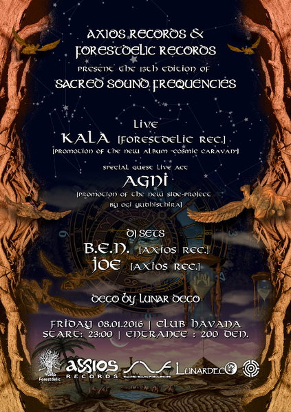 Sacred Sound Frequencies XIII: Axios & Forsetdelic 8 Jan '16, 22:00