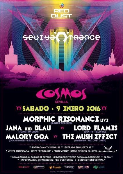 Sevilla N Trance @ Sala Cosmos 9 Jan '16, 23:30