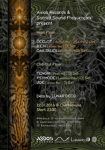 Sacred Sound Frequencies XIV - feat. OCELOT 22 Jan '16, 22:00