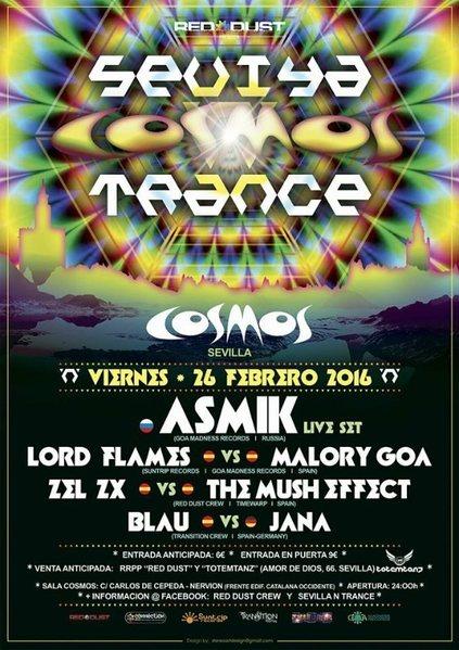 Sevilla 'n' Trance @Sala Cosmos 26/02/2016 / 26 Feb '16, 23:00