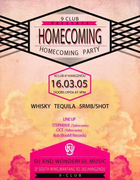 Homecoming 5 Mar '16, 21:00