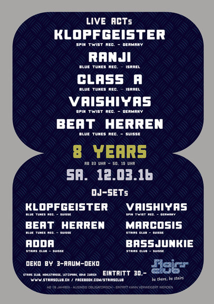 8 Jahre Stairs Club - Big Party 12 Mar '16, 23:00