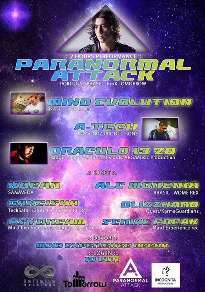 PARANORMAL ATTACK \\ The Return to the Origins 9 Apr '16, 23:30