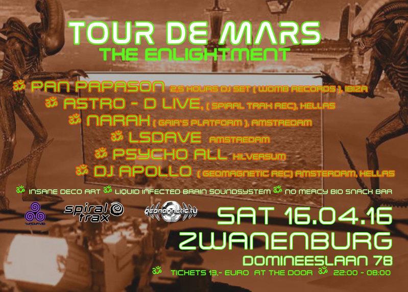Tour De Mars -The Enlighment 16 Apr '16, 22:00