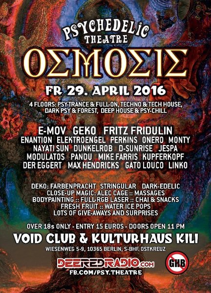 Osmosis by Psychedelic Theatre 29 Apr '16, 23:00
