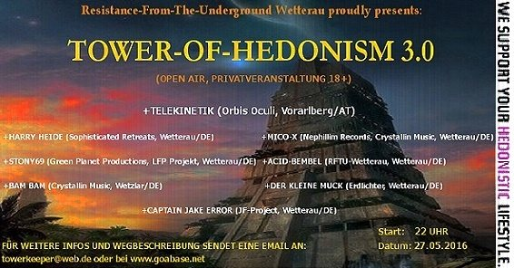 Tower-Of-Hedonism 3.0 27 May '16, 22:00