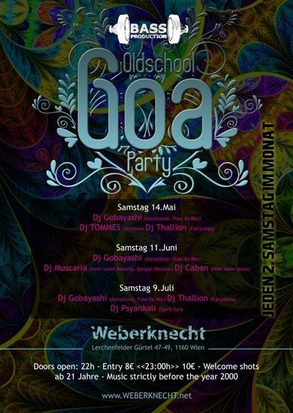 Oldschool Goa Party @ Weberknecht 11 Jun '16, 22:00