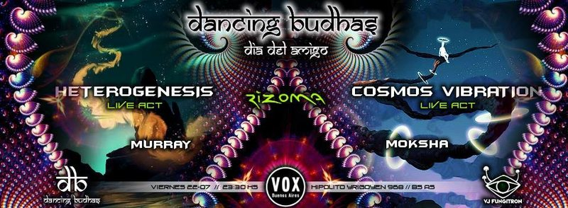 Party flyer: Dancing Budhas Friendship's Day 22 Jul '16, 23:30