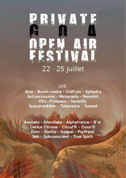 Private Goa Open Air Festival 22 Jul '16, 20:00