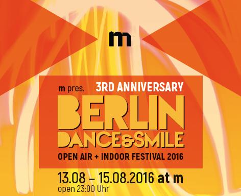 ::: Berlin Dance & Smile Open Air Festival 2016 13 Aug '16, 23:00
