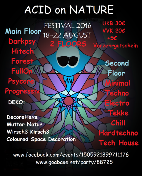 ACIDonNATURE Festival 2016 (LunaTik B-DAY) 2 Floors 1 Sep '16, 13:00