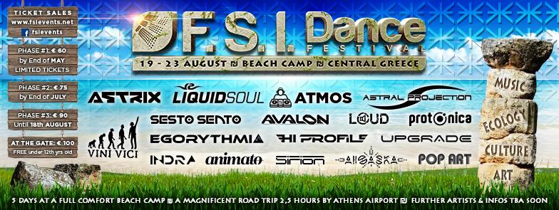 Party Flyer FSI DANCE FESTIVAL 19 23 August BEACH Camp