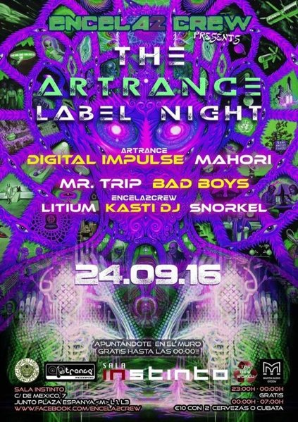 ENCELA2CREW PRESENTS: THE ARTRANCE LABEL NIGHT 24 Sep '16, 23:00