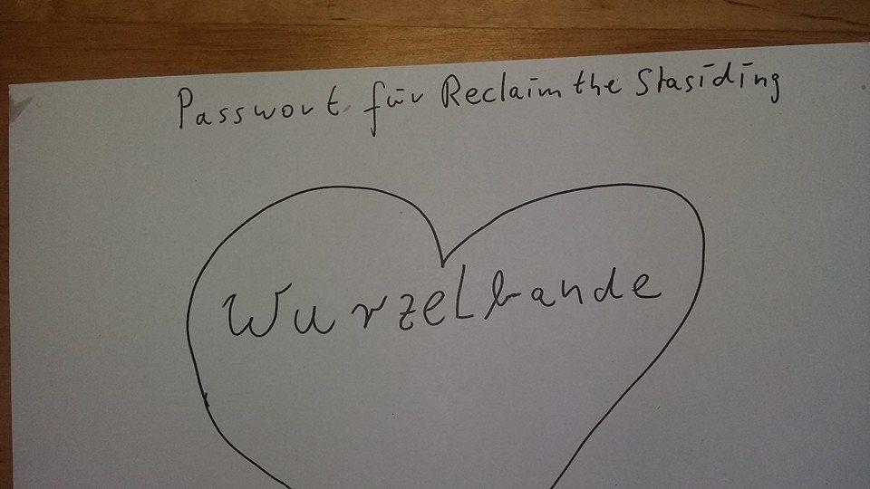 Reclaim the Stasibunker by Wurzelcrew 30 Sep '16, 16:00