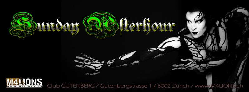 SUNDAY AFTERHOUR - Club GUTENBERG in Zürich 16 Oct '16, 08:00