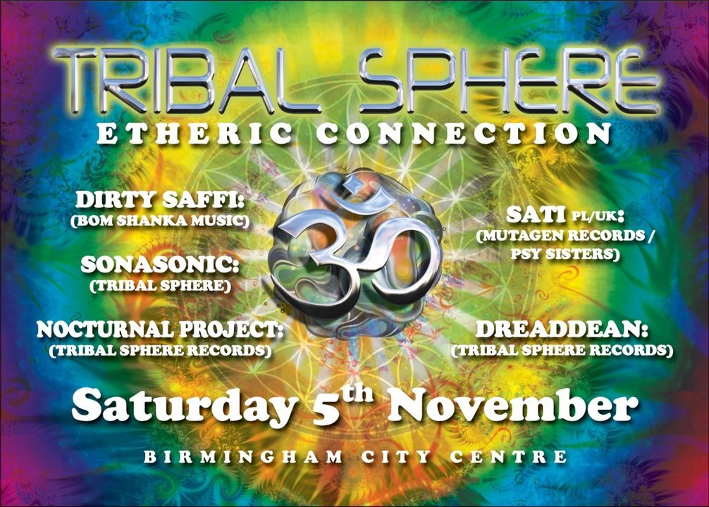 Tribal Sphere: Etheric Connection 5 Nov '16, 22:00