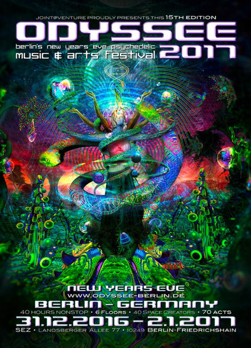 ODYSSEE 2017 ♫ berlins new years eve psychedelic music & arts festival ♫ 31 Dec '16, 22:00