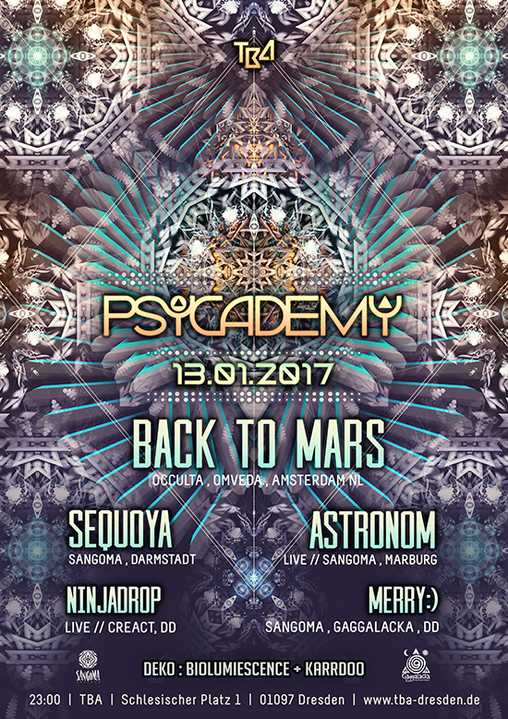 Party flyer: Psycademy 13 Jan '17, 23:00