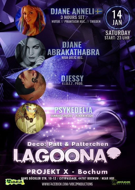 Party flyer: ★Lagoona★ Progressive & Psychedelic Trance Djane Night 2017 14 Jan '17, 23:00