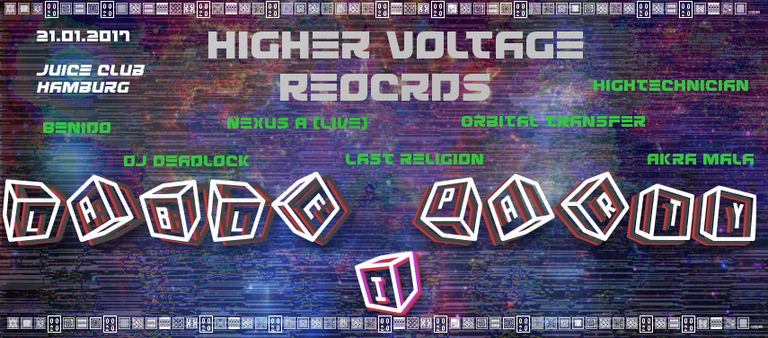 Higher Voltage Records Label-Party I 21 Jan '17, 20:00