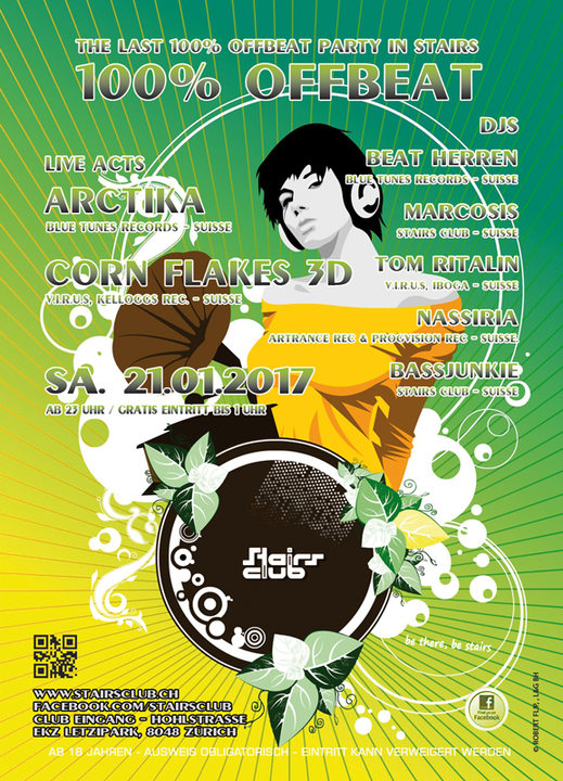 The last 100% Offbeat Party in Stairs 21 Jan '17, 23:00
