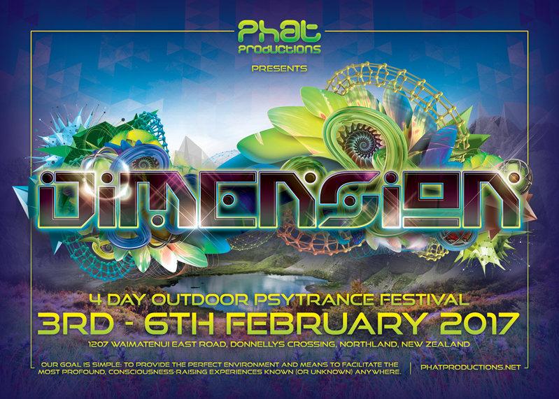 Party flyer: Dimension 3 Feb '17, 12:00