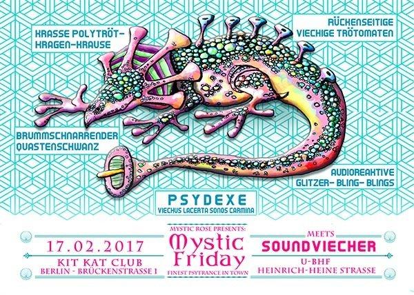 Party flyer: Mystic Friday meets Soundviecher 17 Feb '17, 23:00