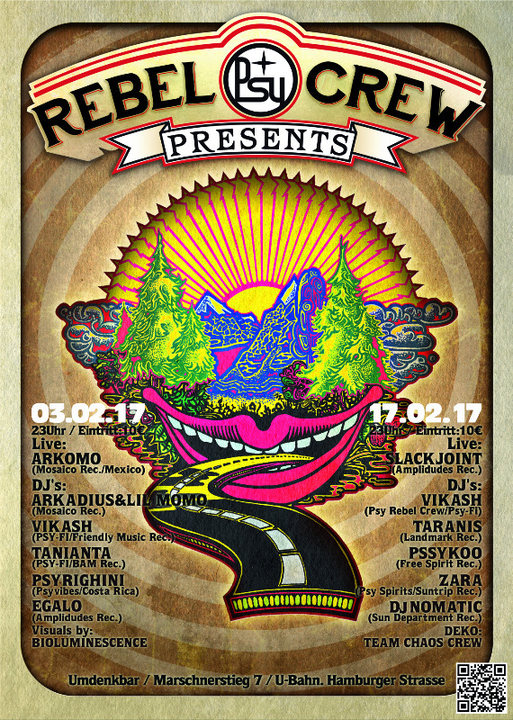 ★ ★ ★ PSY REBEL CREW Present's: pure psychedelic ★ ★ ★ 17 Feb '17, 23:00