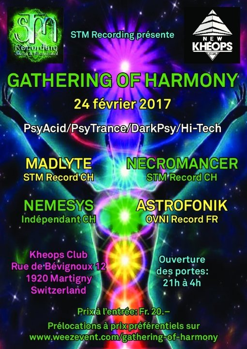 Party flyer: Gathering of Harmony 24 Feb '17, 21:00