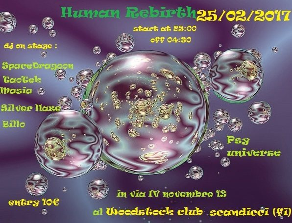Party flyer: Psy Universe Presents : ( HuMaN ReBiRtH ) 25 Feb '17, 23:00