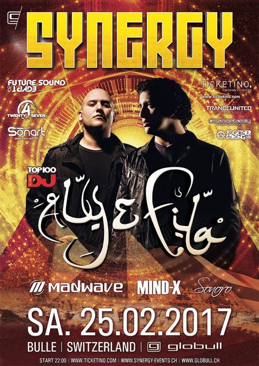 Party flyer: SYNERGY at Globull feat. Aly & Fila 25 Feb '17, 22:00