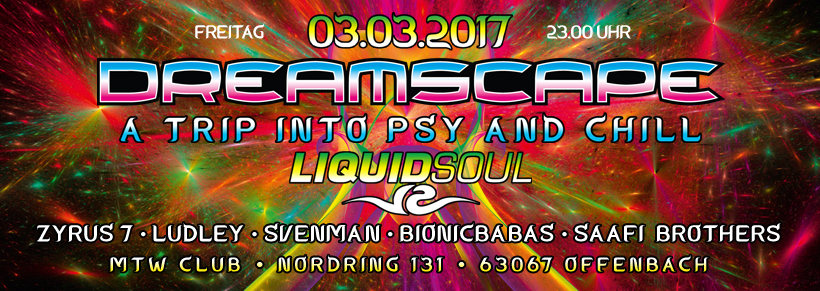 Dreamscape with Liquid Soul (Iboga rec) 3 Mar '17, 23:00