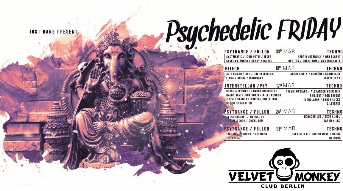 psychedelic Friday w/ Akuschrauber, Djane Nina ,SCHKM uvm 24 Mar '17, 23:00