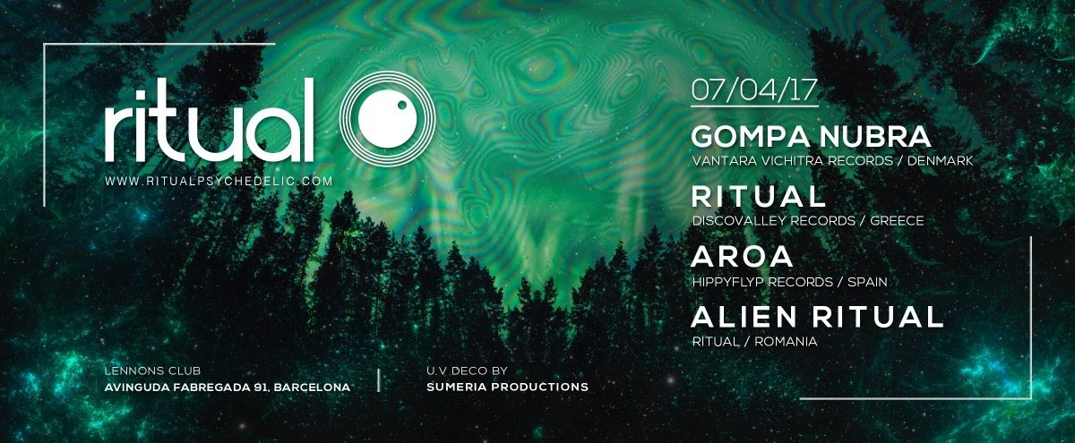 Party flyer: Ritual @ Lennon's Club, Barcelona 7 Apr '17, 23:00