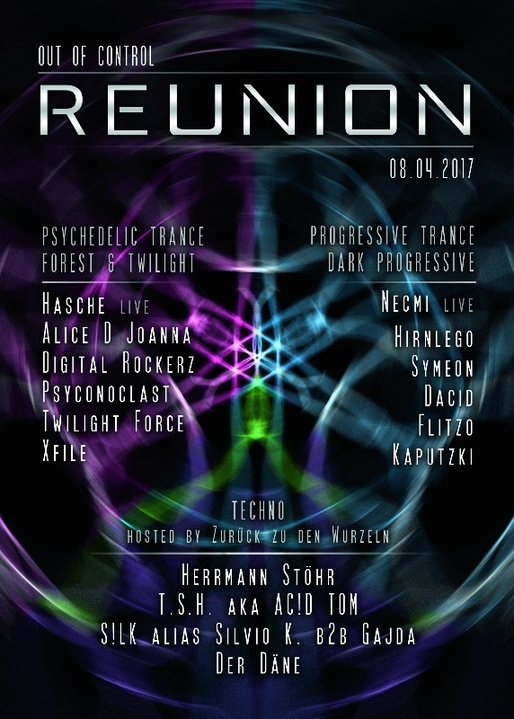✱✱ Out of Control - Reunion ✱✱ 8 Apr '17, 22:00