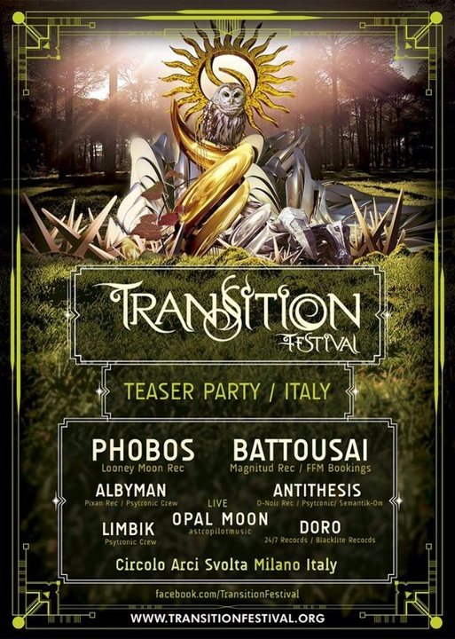 Transition Festival Teaser Party 15 Apr '17, 22:30