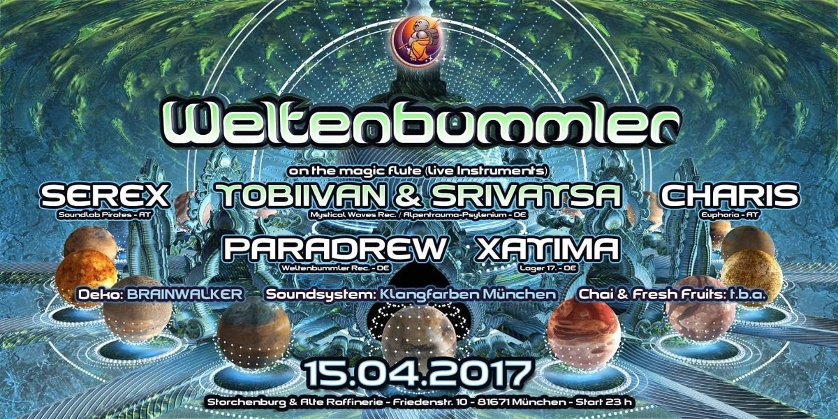Weltenbummler with Tobiivan & Srivatsa on the magic flute 15 Apr '17, 23:00