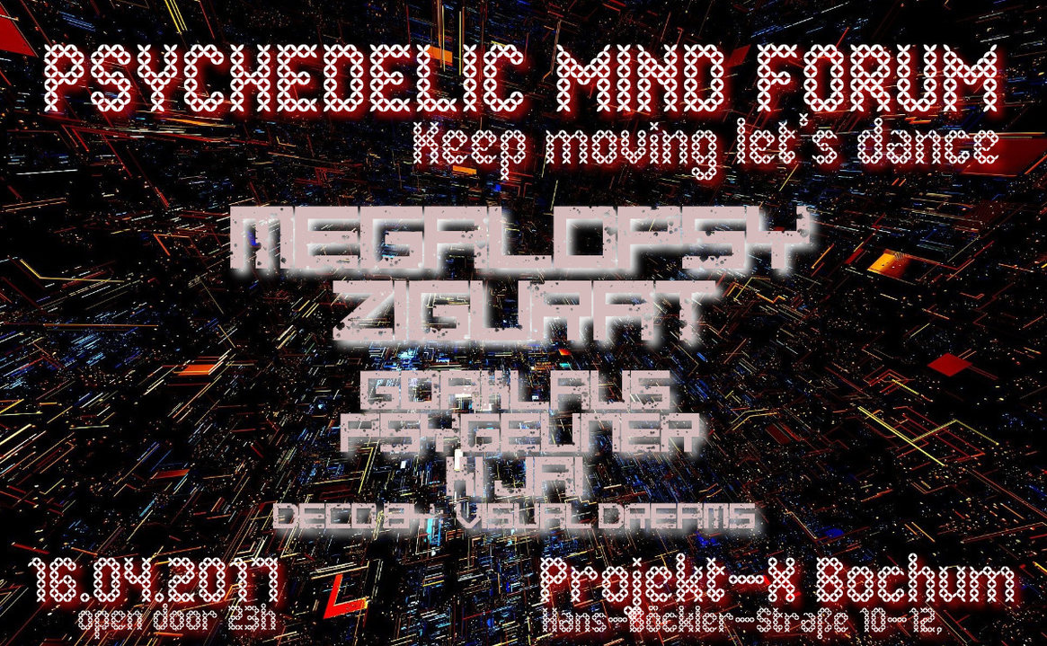 PSYCHEDELIC MIND FORUM - Keep Moving, let's dance! 16 Apr '17, 23:00