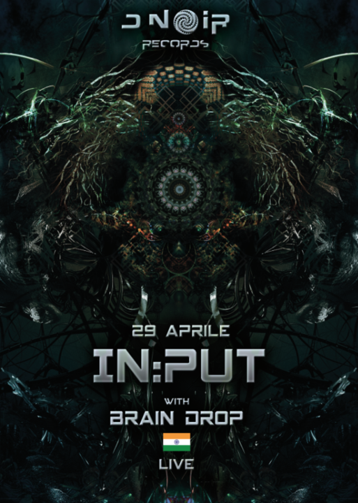 Party flyer: In:put - Brain Drop Live 29 Apr '17, 22:00