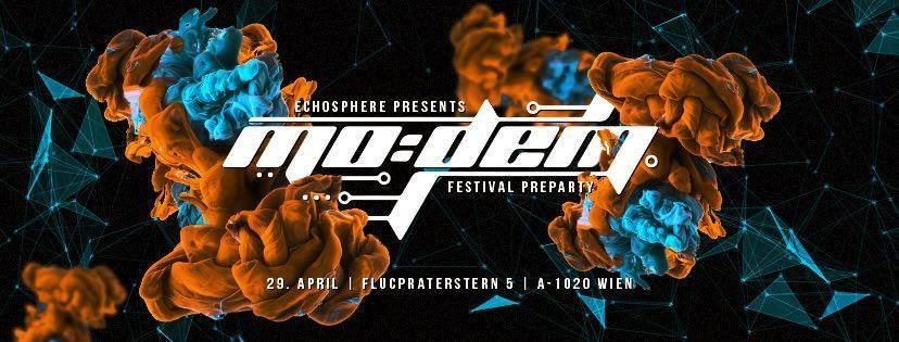 Party flyer: MODEM FESTIVAL TEASER VIENNA presented by ECHOSPHERE 29 Apr '17, 22:00