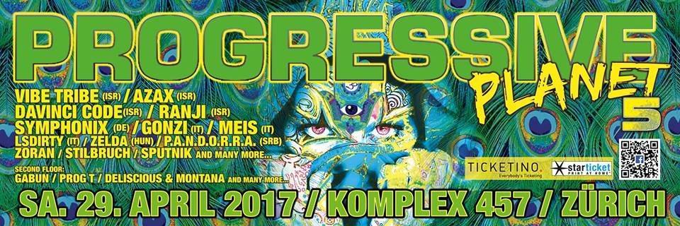 Party flyer: Progressive Planet 5 29 Apr '17, 21:00