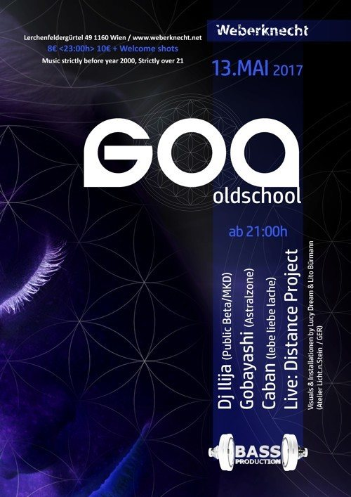 Oldschool Goa Party @ Weberknecht 13 May '17, 21:00