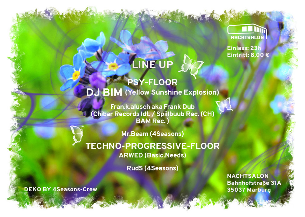 4 SEASONS EVENTS present SPRING with DJ BIM 20 May '17, 23:00