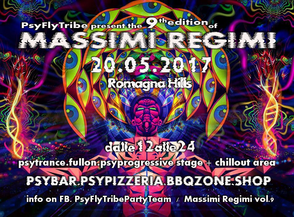Party flyer: Massimi Regimi Vol 9 20 May '17, 11:00
