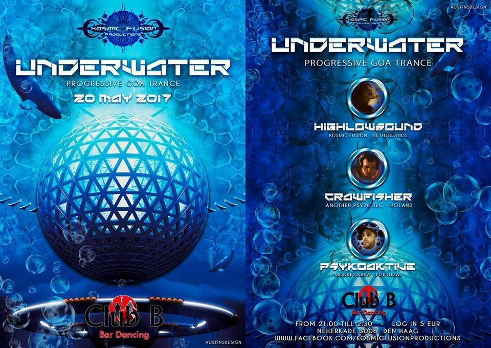 Party flyer: UNDERWATER 20 May '17, 21:00
