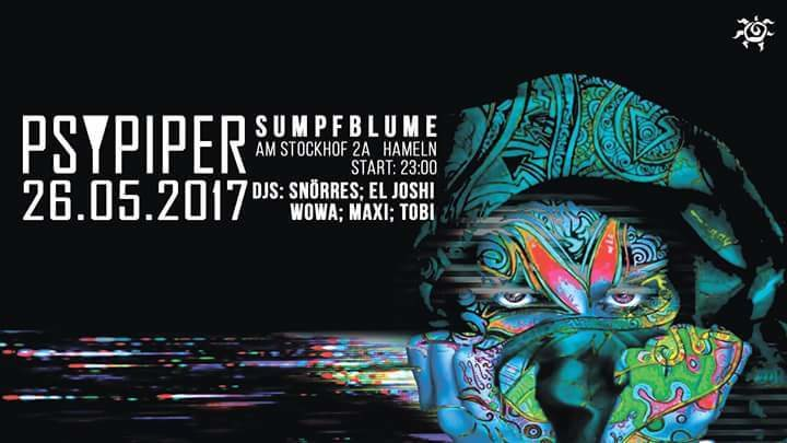Party flyer: Psypiper 26 May '17, 23:00