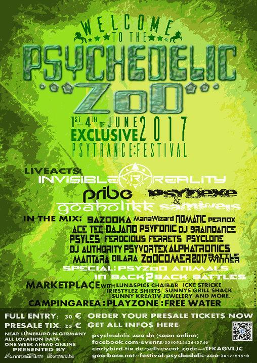 Party flyer: Psychedelic ZoO 2017 1 Jun '17, 16:00