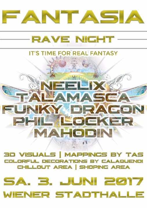 FANTASIA RAVE NIGHT with NEELIX | TALAMASCA | FUNKY DRAGON 3 Jun '17, 23:00
