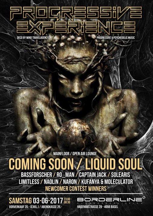 Progressive Experience with Coming Soon / Liquid Soul 3 Jun '17, 23:00